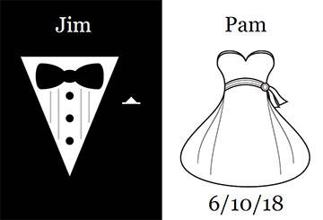 Bride & Groom Wedding Dress & Tux Beer Bottle Label