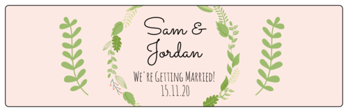 Botanical Wedding Water Bottle Label
