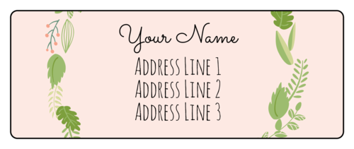 Botanical Wedding Address Label