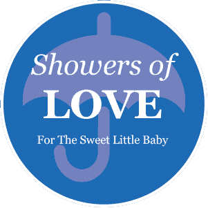 Baby Shower Blue Umbrella Favor/Decoration Label