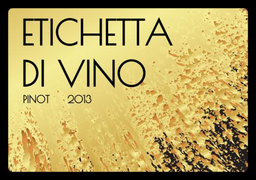 Gold Splatter Wine Bottle Label