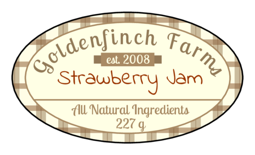 Picnic Plaid Jar Label