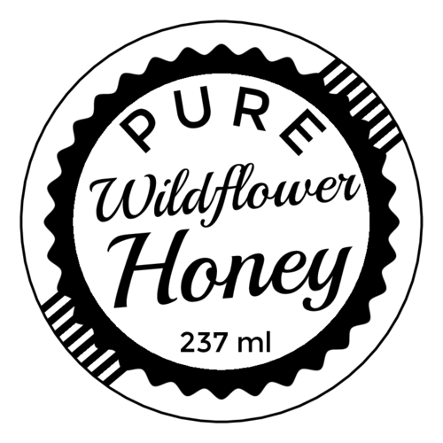 Vintage Stamp Honey Jar Label