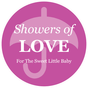Baby Shower Pink Umbrella Favor/Decoration Label