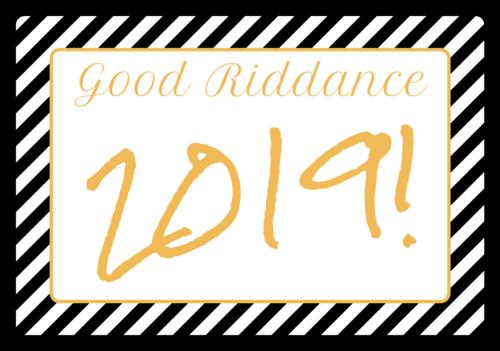 """""""Good Riddance!"""" Champagne Bottle Label"""