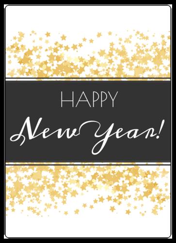 """Happy New Year!"" Wine Bottle Label"