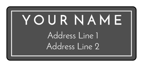 Simple Border Address Label