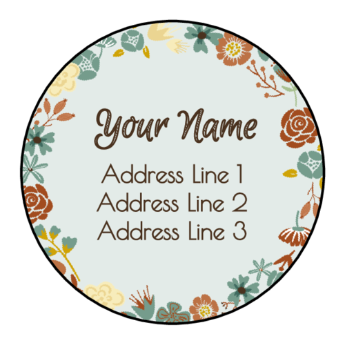 Floral Border Address Label