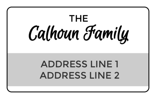 Two-Tone Tall Address Label