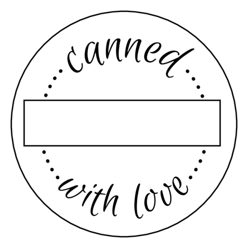 """Canned with Love"" Write-In Jar Label"
