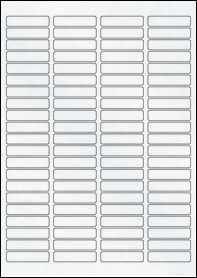 Product EU30049CX - 46mm x 11mm Labels - Matt Clear Laser - 84 Per A4 Sheet
