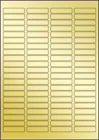 Product EU30049GF - 46mm x 11mm Labels - Metallic Gold Laser - 84 Per A4 Sheet