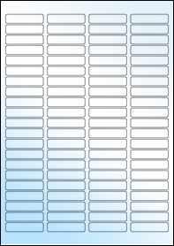 Product EU30049GL - 46mm x 11mm Labels - Weatherproof Gloss Laser - 84 Per A4 Sheet