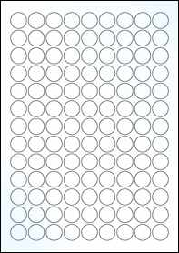 Product EU30051CK - 19mm Circle Labels - Gloss Clear Inkjet - 117 Per A4 Sheet