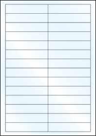 Product EU30056GL - 94mm x 20mm Labels - Weatherproof Gloss Laser - 28 Per A4 Sheet