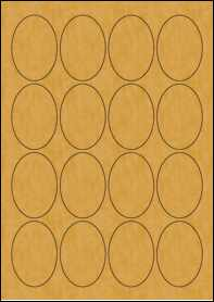 Product EU30066BK - 45mm x 65mm Labels - Brown Kraft - 16 Per A4 Sheet