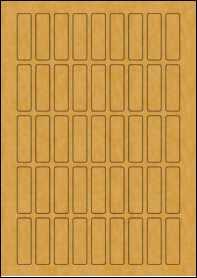 Product EU30093BK - 15mm x 50mm Labels - Brown Kraft - 45 Per A4 Sheet