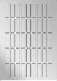 Product EU30093SF - 15mm x 50mm Labels - Metallic Silver Laser - 45 Per A4 Sheet