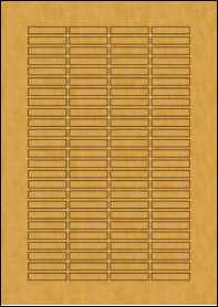 Product EU30097BK - 37mm x 7mm Labels - Brown Kraft - 100 Per A4 Sheet