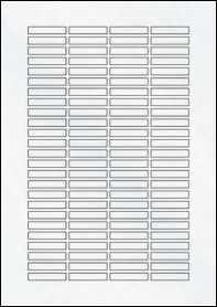 Product EU30097CX - 37mm x 7mm Labels - Matt Clear Laser - 100 Per A4 Sheet