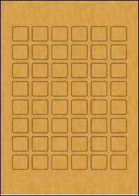 Product EU30108BK - 24mm x 22mm Labels - Brown Kraft - 48 Per A4 Sheet
