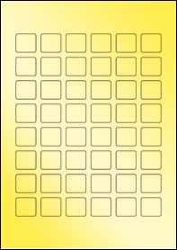 Product EU30108GF - 24mm x 22mm Labels - Metallic Gold Laser - 48 Per A4 Sheet