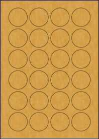 Product EU30109BK - 40mm x 40mm Labels - Brown Kraft - 24 Per A4 Sheet