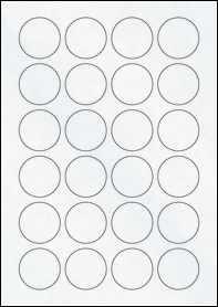 Product EU30109CX - 40mm x 40mm Labels - Matt Clear Laser - 24 Per A4 Sheet