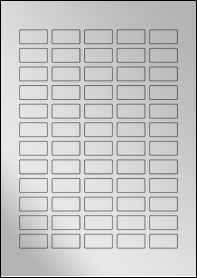 Product EU30117SF - 30mm x 15mm Labels - Metallic Silver Laser - 60 Per A4 Sheet