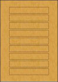 Product EU30144BK - 144mm x 23mm Labels - Brown Kraft - 9 Per A4 Sheet