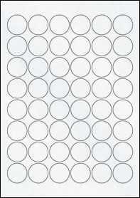 Product EU30166CX - 30mm x 30mm Labels - Matt Clear Laser - 48 Per A4 Sheet
