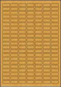 Product EU30170BK - 25mm x 10mm Labels - Brown Kraft - A4 Sheet - 147 Per A4 Sheet
