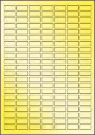 Product EU30170GF - 25mm x 10mm Labels - Metallic Gold Laser - A4 Sheet - 147 Per A4 Sheet