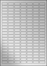 Product EU30170SF - 25mm x 10mm Labels - Metallic Silver Laser - A4 Sheet - 147 Per A4 Sheet
