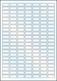 Product EU30170GL - 25mm x 10mm Labels - Weatherproof Gloss Laser - A4 Sheet - 147 Per A4 Sheet