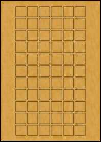 Product EU30178BK - 22mm x 22mm Labels - Brown Kraft - 66 Per A4 Sheet