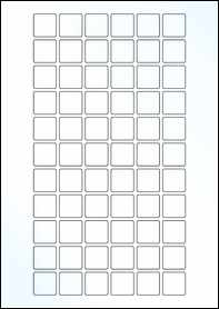 Product EU30178CK - 22mm x 22mm Labels - Gloss Clear Inkjet - 66 Per A4 Sheet