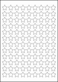Product EU30205WI - 19.05mm x 19.05mm Labels - Weatherproof Gloss White Inkjet - 108 Per A4 Sheet