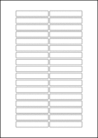 Product  - 70mm x 12mm Labels -  - 34 Per A4 Sheet