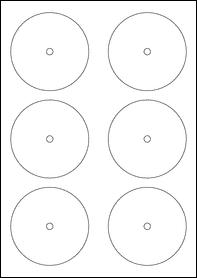 Product EU30236WX - 84mm x 84mm Labels - Standard Matt White - CD Labels - 12 Per A4 Sheet