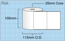 Product  - 102mm x 76mm Labels -  - 1,000 Per Roll