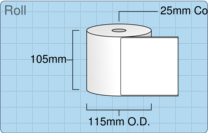 Product  - 102mm x 102mm Labels -  - 750 Per Roll