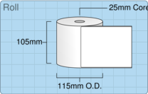 Product  - 102mm x 127mm Labels -  - 600 Per Roll