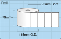 Product  - 76mm x 38mm Labels -  - 2,000 Per Roll