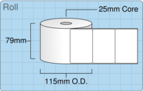 Product  - 76mm x 50mm Labels -  - 1,500 Per Roll