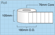 Product  - 102mm x 38mm Labels -  - 4,000 Per Roll