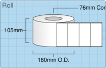 Product  - 102mm x 50mm Labels -  - 3,000 Per Roll