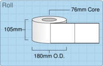 Product  - 102mm x 127mm Labels -  - 1,200 Per Roll