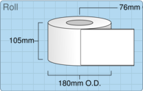 Product  - 102mm x 152mm Labels -  - 1,000 Per Roll
