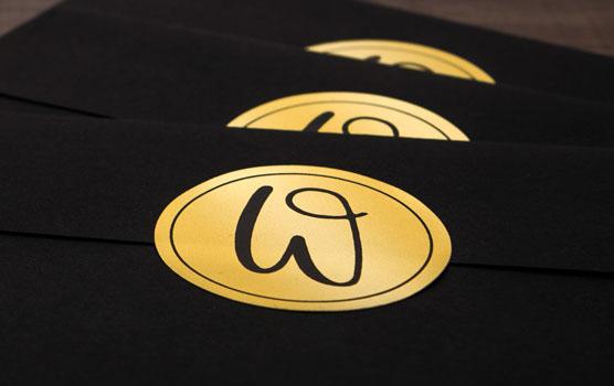Gold Laser Labels